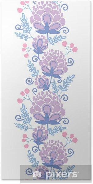 Poster Vector Morbidi Fiori Viola Verticale Sfondo Seamless Pixers