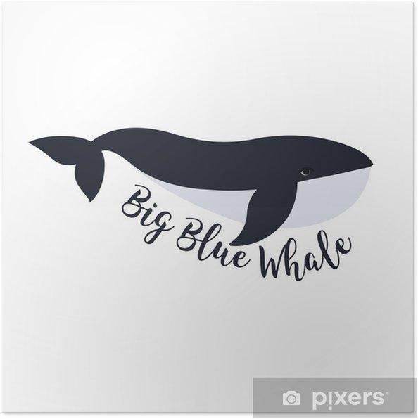 Poster Vektor-Illustration der Wal. Symbol-Design - Für Kinderzimmer