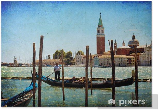Poster Venedig, Blick auf San Giorgio stieg von San Marco. - Themen