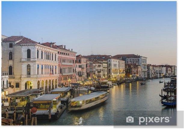 Poster VENEDIG, ITALIEN - 30. Juni: von der Rialto-Brücke Blick auf 30. Juni 201 - Private Gebäude