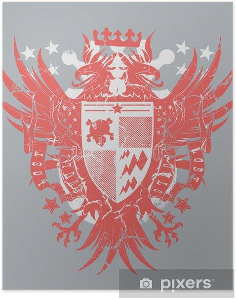 Poster Verlorene Wappen - Zeichen und Symbole
