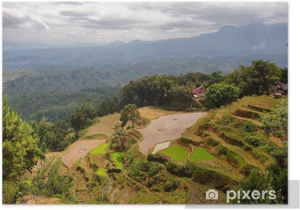 Poster Village of Limbong - Asien