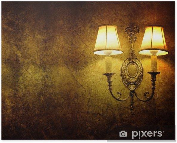 Lampada Vintage Da Parete : Poster vintage lampada da parete u2022 pixers® viviamo per il cambiamento