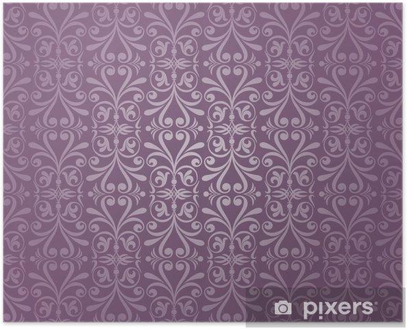 Poster Violett Und Silber Luxus Vintage Tapete Pixers Wir Leben