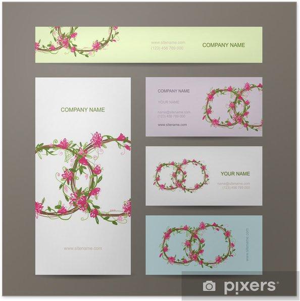 Poster Visitenkarten Auflistung Hochzeit Design
