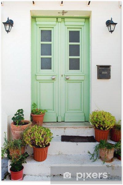 Poster Von griechisch - Private Gebäude