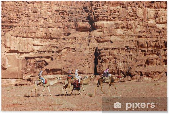 Poster Wadi Rum Kamel-Safari, Jordanien. - Wüsten