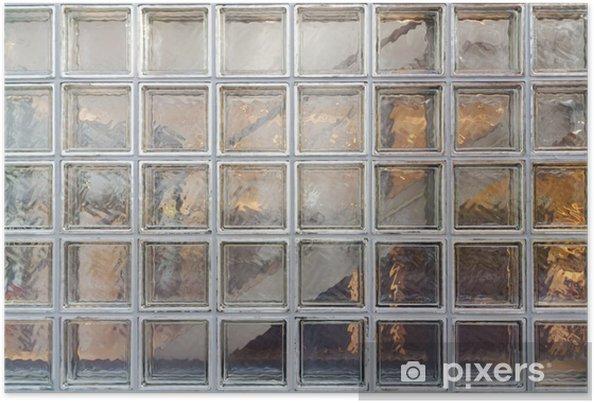 Poster Wand aus Glasbausteinen • Pixers® - Wir leben, um zu verändern