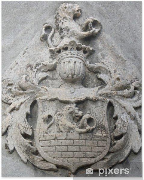 38274bc994facc Poster Wappen mit Löwen (Mittelalter