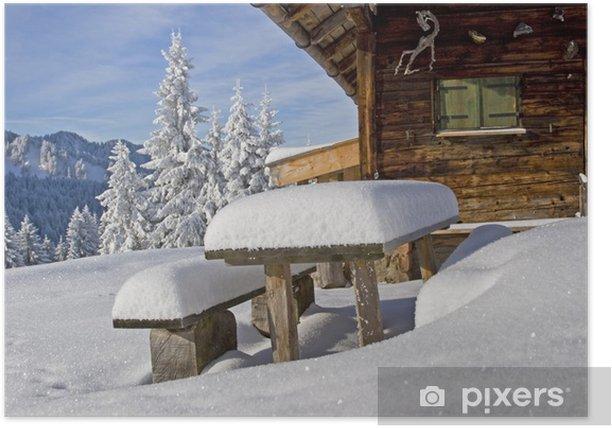 Poster Wasensteiner Alm im Winter - Jahreszeiten