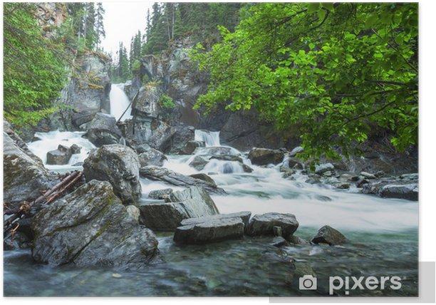 Poster Wasserfall auf Alaska - Wasser