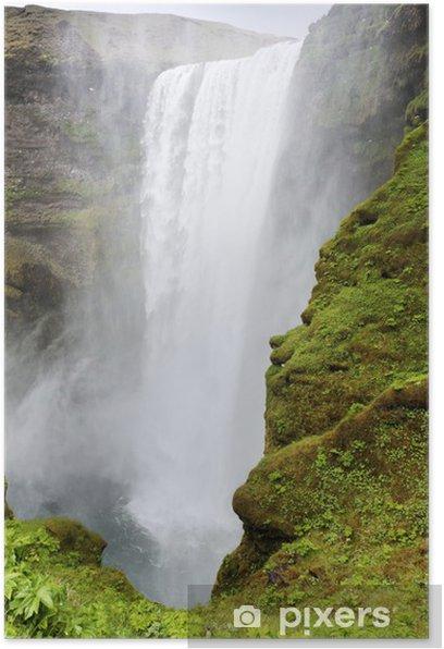 Poster Wasserfall Skogafoss, Island - Europa