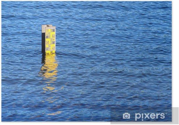 Poster Wasserstand - Naturkatastrophen