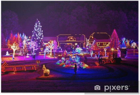 Weihnachten Mit Fantasy.Poster Weihnachten Fantasy Bäume Und Häuser In Lichter