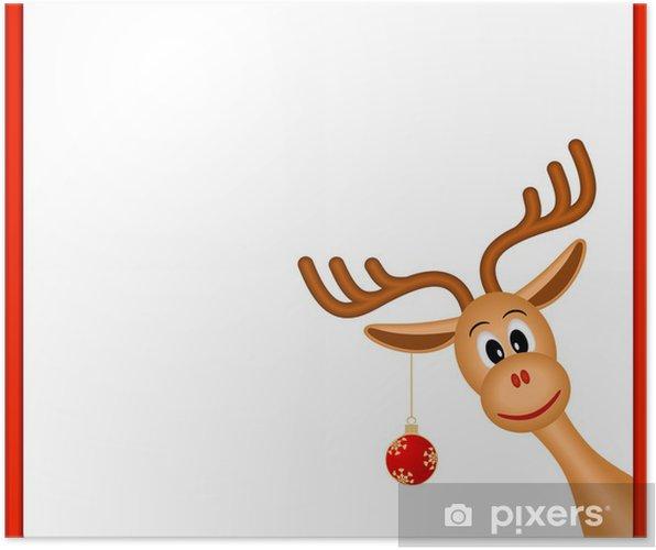 Poster weihnachten rentiere in leeren rahmen mit rotem rand pixers wir leben um zu ver ndern - Pferde bordure kinderzimmer ...