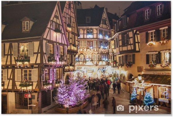 Colmar Weihnachtsmarkt.Poster Weihnachtsmarkt In Colmar Im Elsass