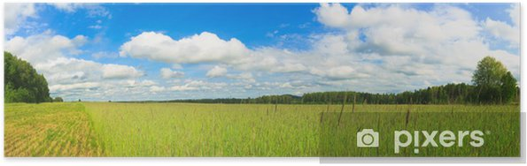 Poster Weizenfeld Panorama - Jahreszeiten