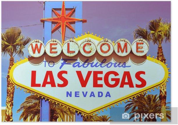 Poster Welcome to Fabulous Las Vegas Schild - Las Vegas