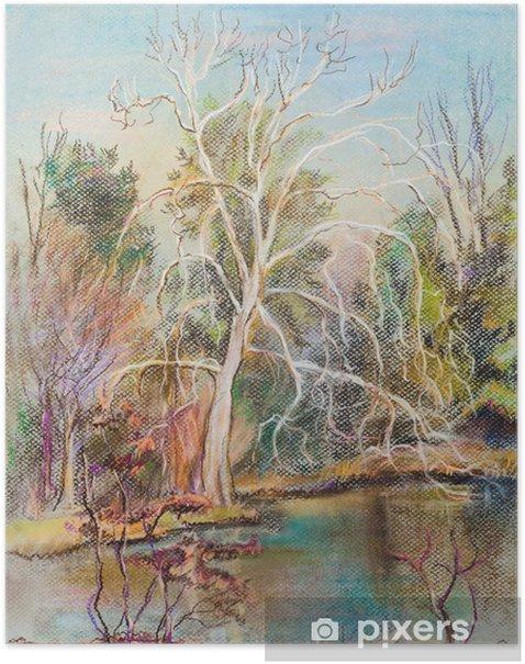 Poster White tree - Land