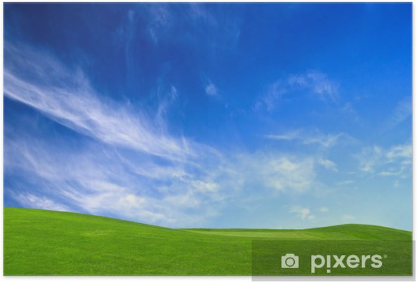 Poster Wiese grün - Jahreszeiten