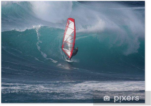 Poster Windsurfen - Urlaub