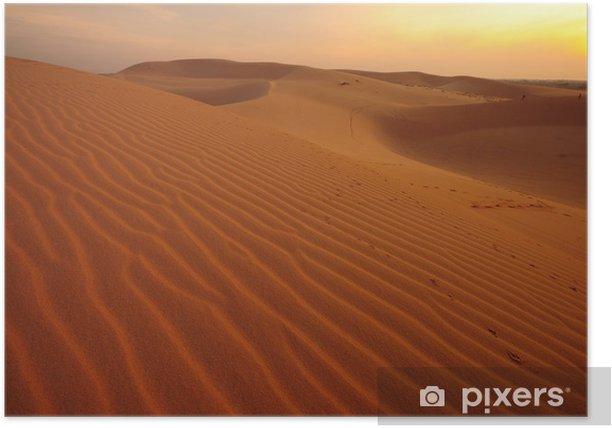 Poster Wüsten-Landschaft - Wüsten