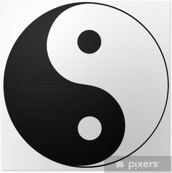 Poster Ying Yang simbolo di armonia e di equilibrio - Adesivo da parete