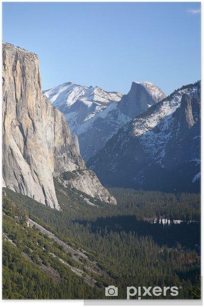 Poster Yosemite Tal Im Winter Kalifornien Pixers Wir Leben