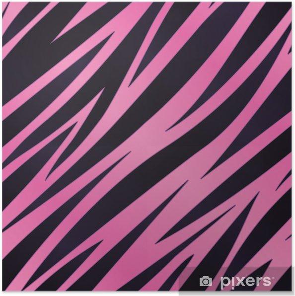 Poster Zebra Rosa Sfondo A Righe Pixers Viviamo Per Il Cambiamento