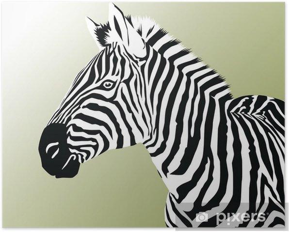 Poster Zebra - Säugetiere