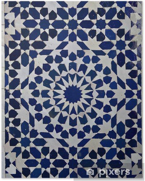 Poster Zellige marokkanischen Fliesen-Muster