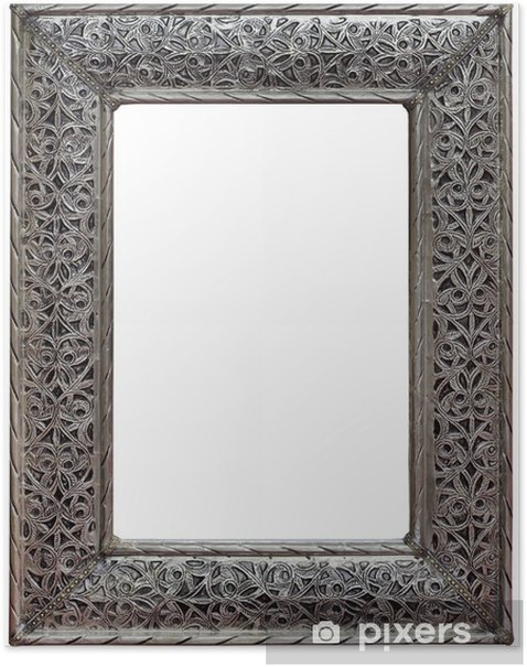 Poster Zinn Mirror Frame Ausschnitt - Haus und Garten
