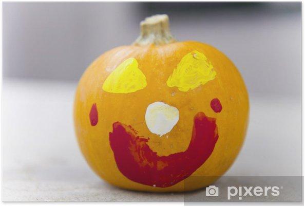 Poster Zucca di Halloween face painting • Pixers® - Viviamo per il ... be5e3ea2b124
