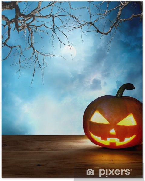 Poster Zucca di Halloween sfondo • Pixers® - Viviamo per il cambiamento 5acf13f9a300