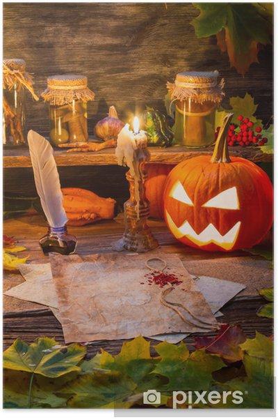 Poster Zucca e candele nella casetta della strega - Feste Internazionali b9c4786eaa3c