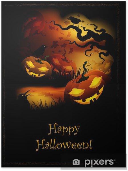 Poster Zucche di Halloween • Pixers® - Viviamo per il cambiamento 961885f1295b