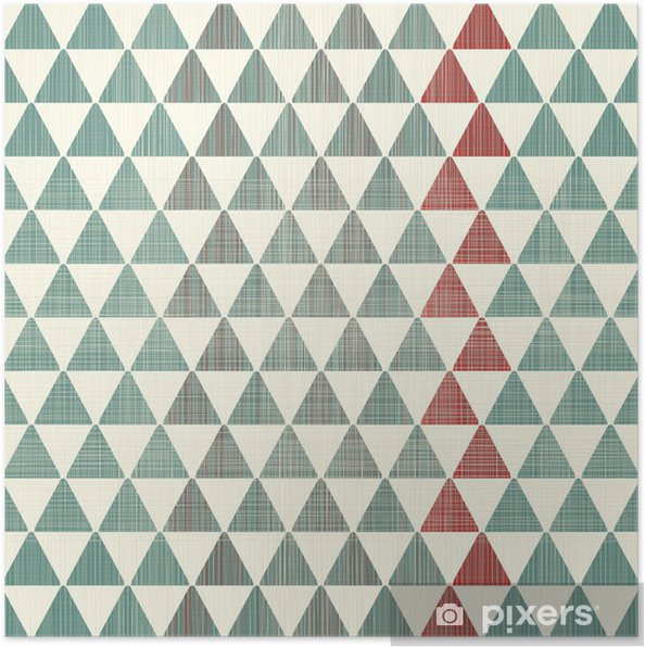Póster abstract textures triangles seamless pattern - Estilos