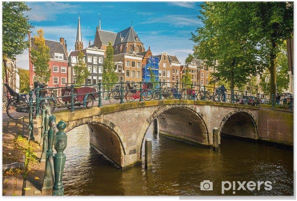 Póster Amsterdam cityscape - Temas