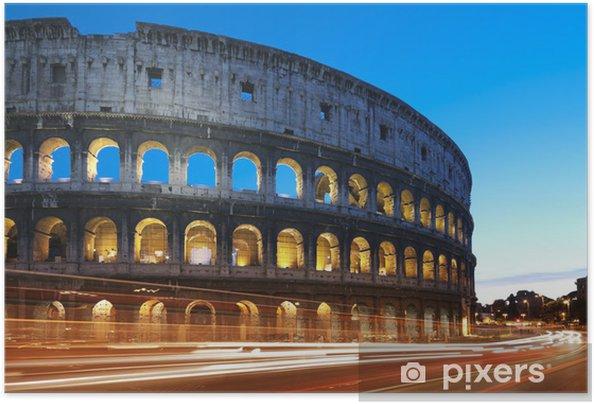 Póster Autoadesivo Coliseum at night. Rome - Italy - Destino