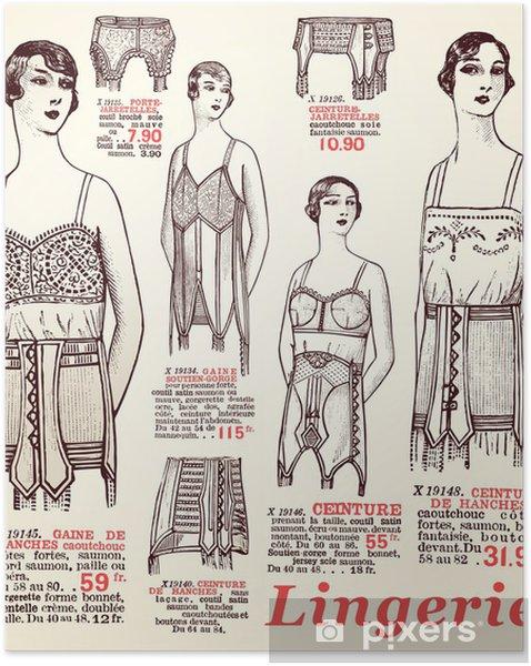 Póster Autoadesivo lingerie 1930 - Texturas