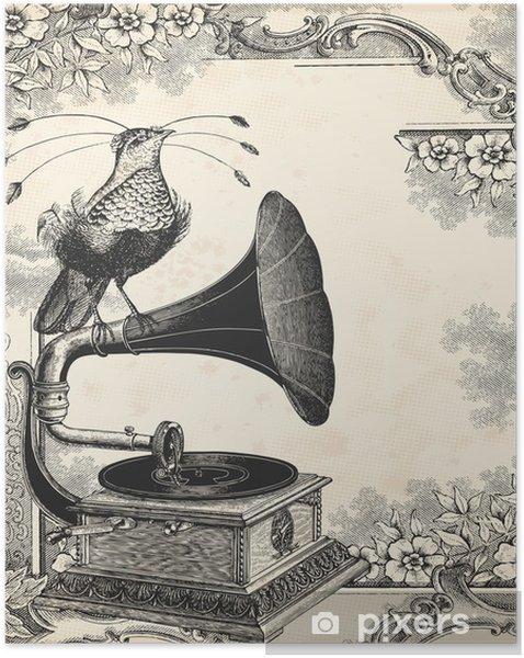Póster Autoadesivo The bird music - Texturas