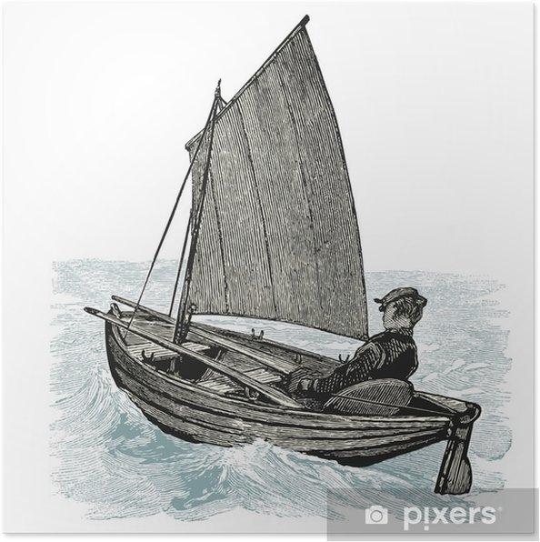 Póster Barco à vela - Transportes