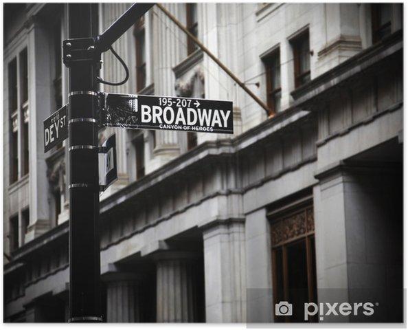 Póster Broadway sign - Temas