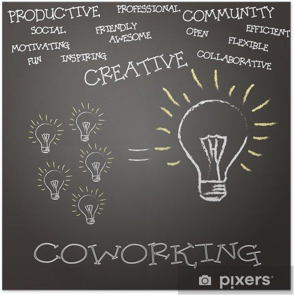Póster concepto coworking - Conceitos de Negócios