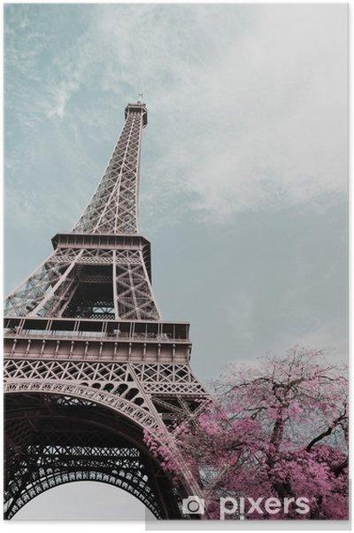 Póster Eiffel tower - Viagens