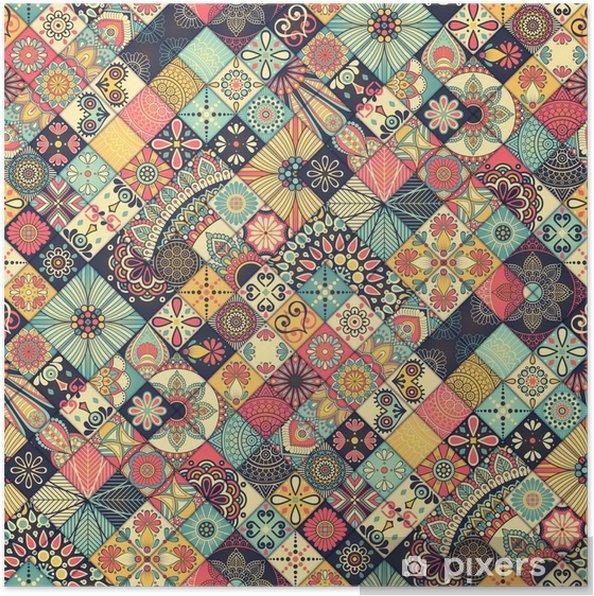 Póster Ethnic padrão sem emenda floral - Recursos Gráficos