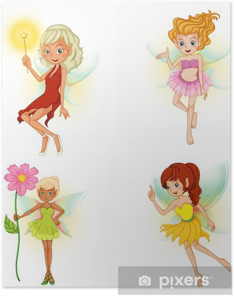 Póster Four beautiful fairies - Outros Sentimentos