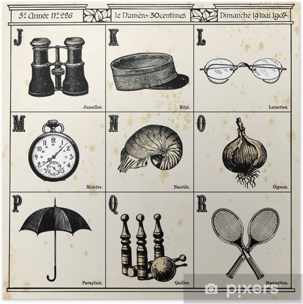 Póster French Alphabet N°2 - Texturas
