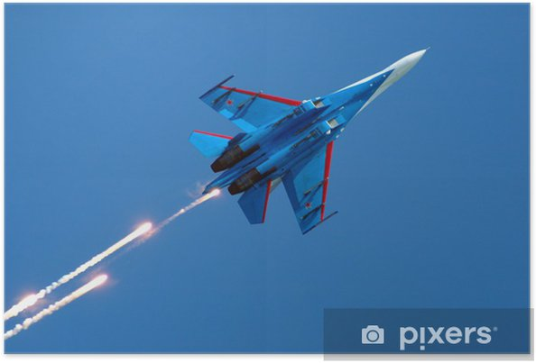 Póster su-27 fireworks - Entretenimento