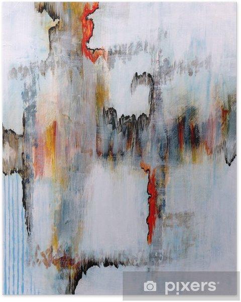 Póster Uma pintura abstrata - Tecnologia